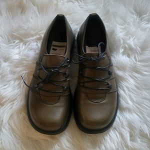 Dario Janika Green Lace Up Leather Oxford Size 12M